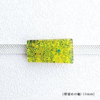 1点ものガラスの帯留め「Flower in the garden」|箱付