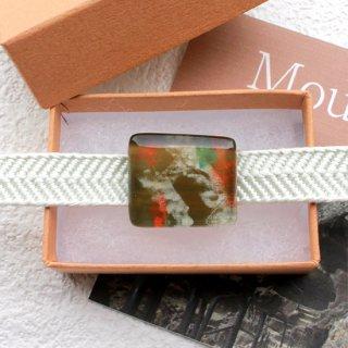 伊勢志摩シリーズ・1点ものガラスの帯留め「山/Mountain」|箱付