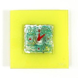 ガラスアート時計・「Spring Color」