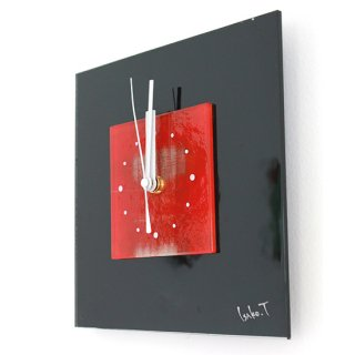 ガラスアート時計・「静かな希望」
