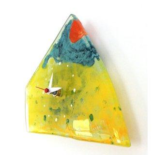 ガラスアート時計・「Yellow mountain」