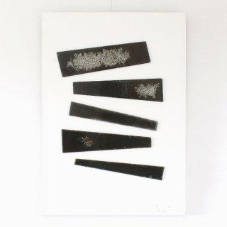 アートガラスパネル・「黒のバラード」