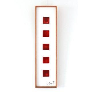アートガラスパネル「深紅の風景」