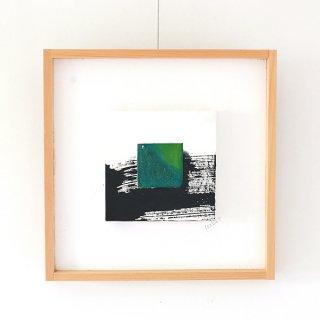 アートガラスパネル「深海グリーン」