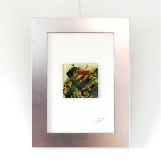 アートガラスパネル「赤い鳥」