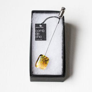 ペインティングシリーズ・1点ものガラスハットピン「yellow landscape」|箱付