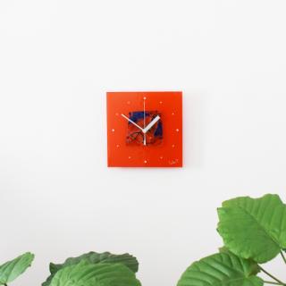 ガラスアート時計「太陽の海」