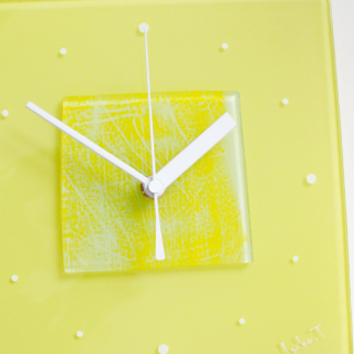 ガラスアート時計「happy siesta」