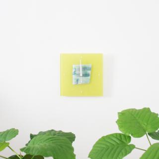 ガラスアート時計「晴れの日」