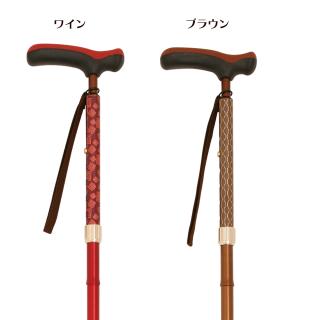 ☆滑りにくい先ゴムプレゼント☆ FK 抗菌楽ーダ 折り畳み杖(台湾製)