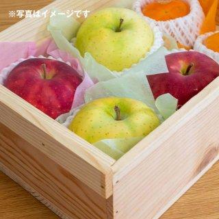 季節のおまけフルーツ入り3寸5分箱(新箱)※取手付、表面加工あり、フタ付