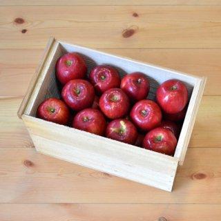 紅玉りんご入り4-5kg(28-32玉)令和のりんご箱(大)新箱(フタ付き粗仕上げ取手付き)※10月中旬以降のお届けです
