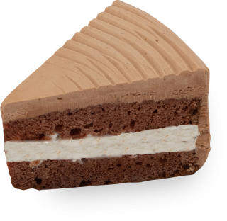 豆乳・米粉のチョコデコレーションケーキ(1/8カット)