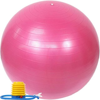 バランスボール 55cm ポンプ付き アンチバースト EGS(イージーエス) バランスボール 55cm EG-3062【ジムボール ヨガボール エクササイズボール】