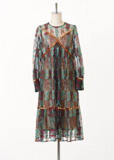 Flare piping dress