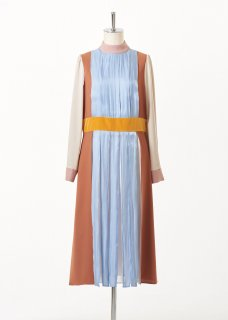 Stand panel multi-color dress