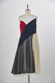 Patchworked sleeveless dress