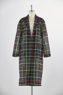 Organdie plaid chester coat