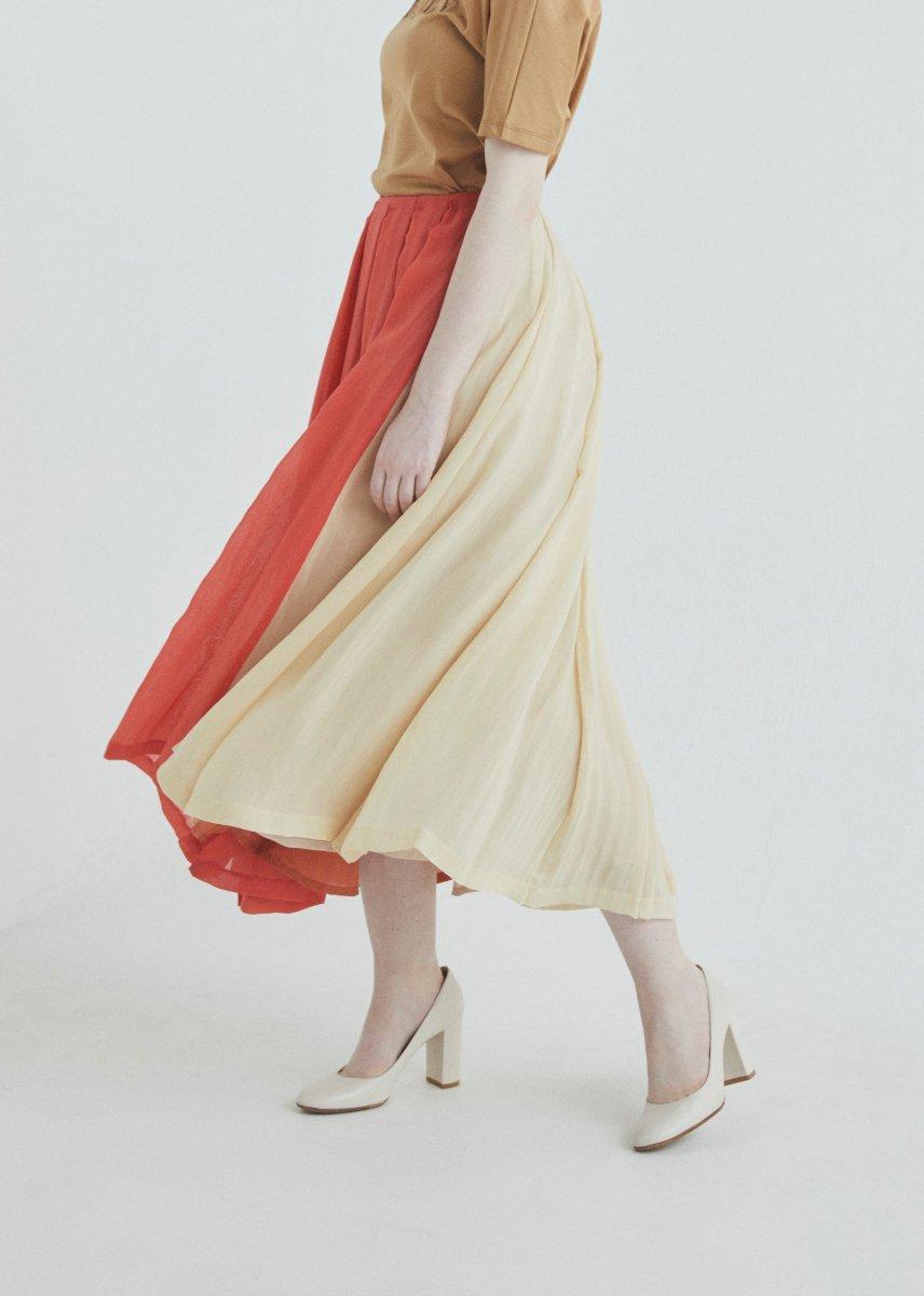 Tucks long skirt
