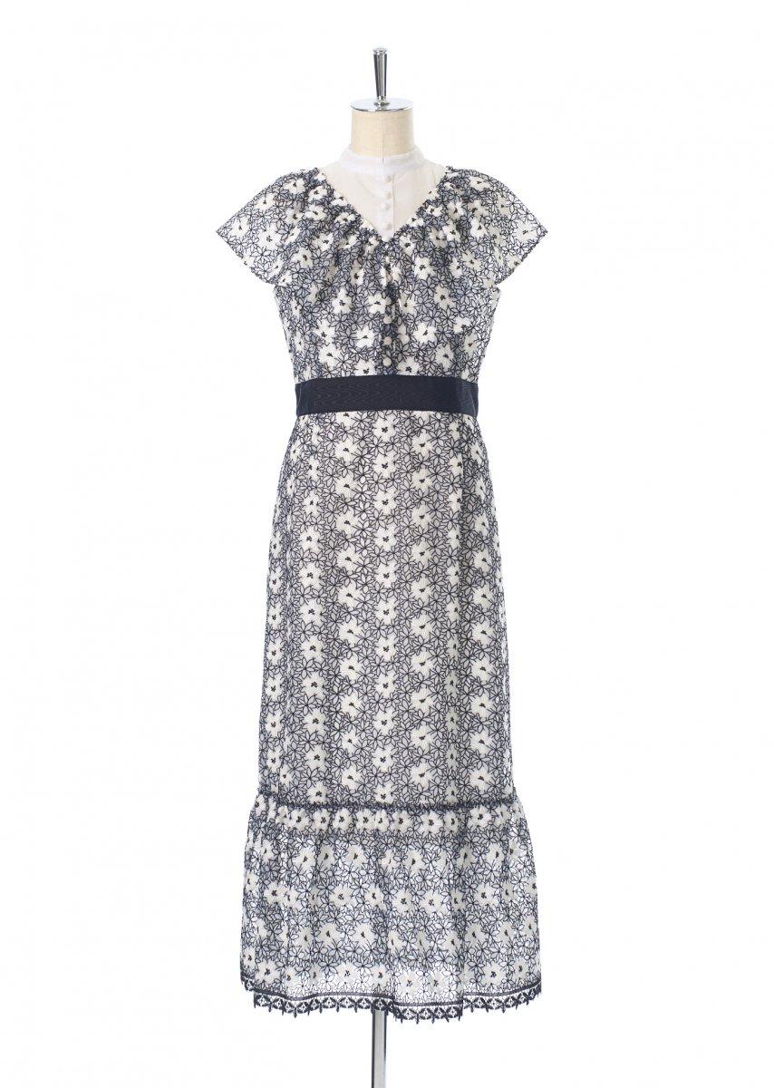 Cape collar dress