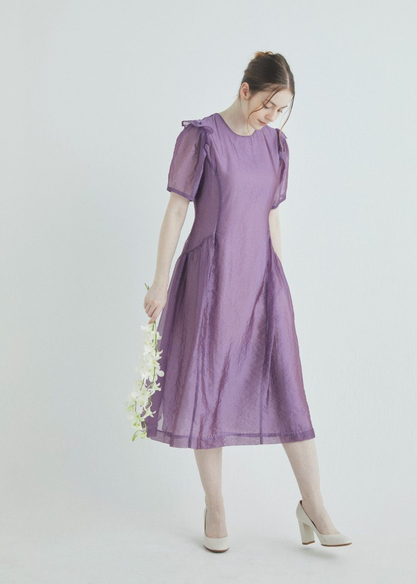 Puff sleeve washer dress