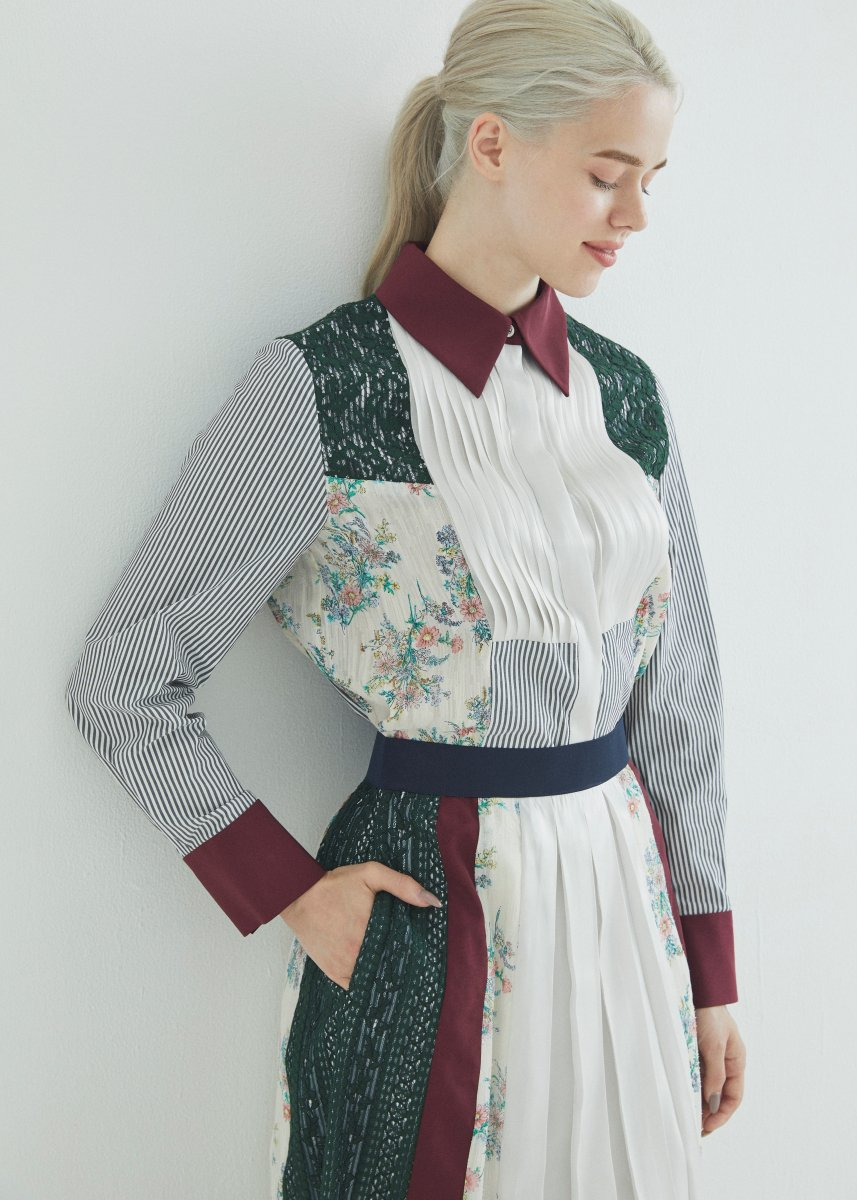 Patchworked blouse