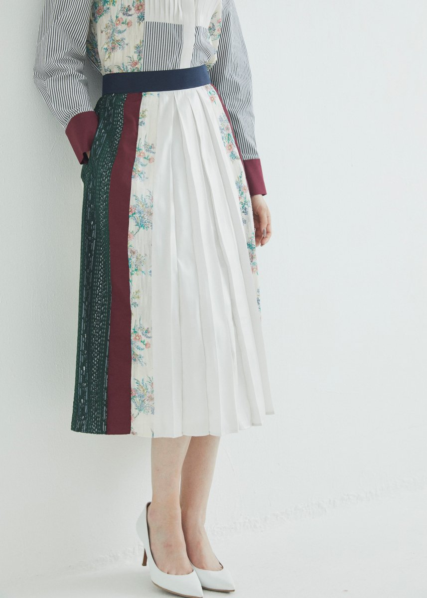 Patchworked skirt