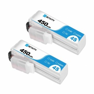 BETAFPV 450mAh 4S 75C Lipo Battery (2PCS)