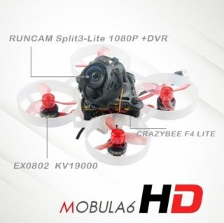 Happymodel Mobula6 HD 65mm 1S Runcam Split3-lite 1080P HD Frsky D8
