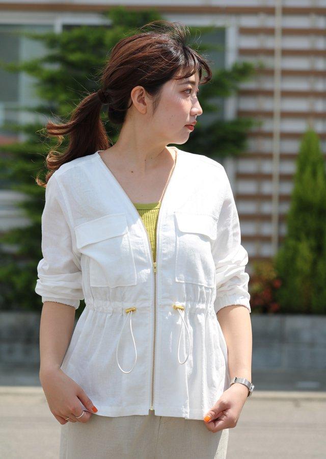 【SALE】レーヨン麻ジャケット