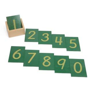 数の砂文字板