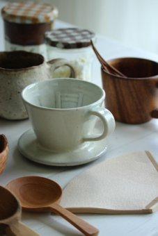 REST FOLK陶器ドリッパー白釉
