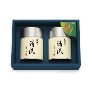 【新茶】【贈答用】安倍の清流100g帯缶(化粧箱入2本)
