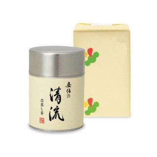 安倍の清流100g帯缶(化粧箱入)