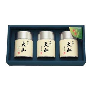 【新茶】【贈答用】安倍の天山100g帯缶(化粧箱入3本)