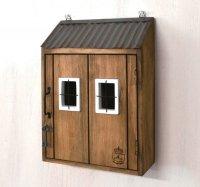 azi-azi キーフックルーフボックス 木製キーケース
