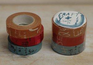 倉敷意匠 マスキングテープ3巻セット(グラフィティB)