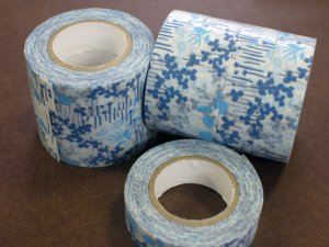 倉敷意匠 マスキングテープ15mm リトルガーデン ブルー 1巻