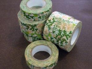 倉敷意匠 マスキングテープ15mm リトルガーデン グリーン 1巻