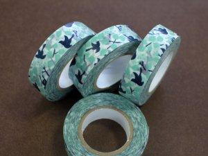 倉敷意匠 マスキングテープ15mm メッセージバード ブルー 1巻
