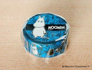 ムーミン マスキングテープ ぶどう畑のムーミンたち スカイブルー