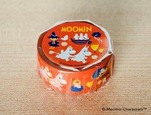 ムーミン マスキングテープ ムーミン谷の仲間たち オレンジ