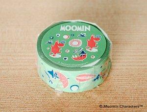 ムーミン マスキングテープ ムーミン谷の仲間たち ワサビ