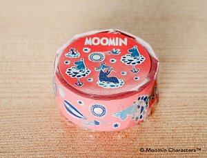 ムーミン マスキングテープ ムーミン谷の仲間たち サーモン