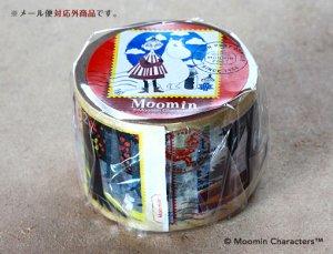 ムーミン マスキングテープ 切手シリーズ(それからどうなるの?)レッド