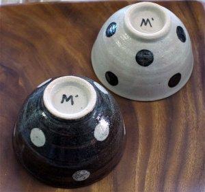 スタジオエム 水玉茶碗(小)  ご飯茶碗