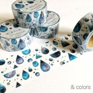 & colors マスキングテープ 星空の雫