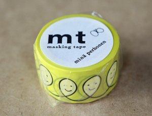 ミナペルホネン マスキングテープ smile・yellow