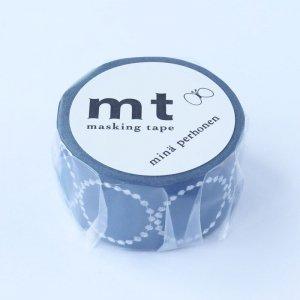 ミナペルホネン マスキングテープ tambourine petit・navy 25mm