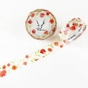 MiriKulo:rer(ミリクローレル) マスキングテープ flower2 赤い花